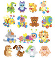 funny toy animals vector image vector image
