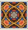 geometric ornament in ethnic style vector image vector image