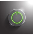 glass circle power icon Eps10 vector image vector image