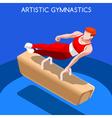 Gymnastics Pommel Horse 2016 Summer Games 3D vector image vector image