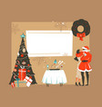 hand drawn abstract fun merry xmas time vector image vector image