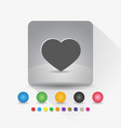 heart shape icon sign symbol app in gray square vector image vector image