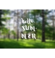 Hello summer super colorful design vector image