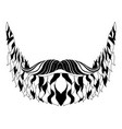 hipster beard silhouette vector image vector image
