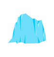 ice mountain isolated snow rock iceberg vector image vector image