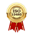 ISO 13485 standard rosette - medical devices vector image vector image