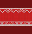 knitted red pattern background vector image