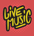 live music concert dj set party related hand drawn vector image vector image