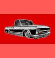 low chevy truck vector image vector image