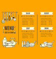 menu template of the best restaurant vector image vector image