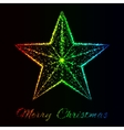 Merry Christmas of lights vector image