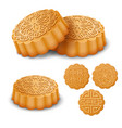 mooncakes for mid autumn festival vector image