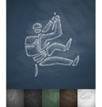 mountaineer icon Hand drawn vector image vector image