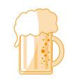 orange silhouette shading cartoon beer jar glass vector image
