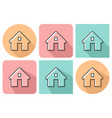 outlined icon home with parallel and not vector image vector image
