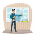 plastic windows install and repair service vector image