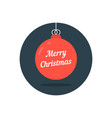 red xmas ball icon like merry christmas vector image