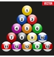 Set of billiard balls for pool vector image vector image