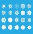 set of twent snowflakes vector image vector image