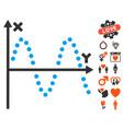 Sine plot icon with dating bonus