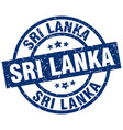 sri lanka blue round grunge stamp vector image vector image