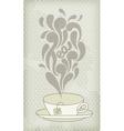 Steaming hot tea vector image