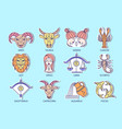 stickers with zodiac signs vector image