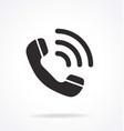 telephone hotline icon vector image