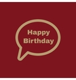 The speech bubble with the word happy birthday vector image vector image