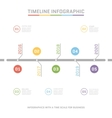 Timeline Infographic design templates vector image vector image