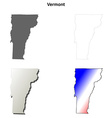 Vermont outline map set vector image vector image