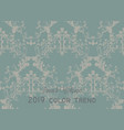 vintage ornamented pattern old style vector image vector image