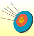 vintage target and arrows vector image vector image