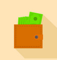 wallet icon flat style vector image vector image