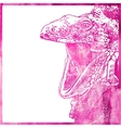 watercolor animal background in pink color vector image