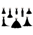 wedding and evening dresses vector image vector image