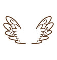 wings feathers angel bird freedom icon vector image vector image