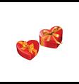 heart gift presents vector image