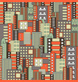 residential district seamless pattern vector image