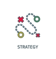 abstract sign the dotted line strategy goal vector image