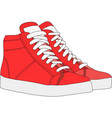 Red sports shoes vector image