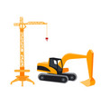 construction crane in a flat style vector image