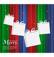 Abstract Christmas card with gifts vector image vector image