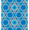 abstract geometric blue red seamless pattern vector image vector image