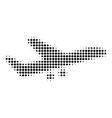 aiplane halftone icon vector image
