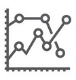 analytics graph line icon development vector image vector image