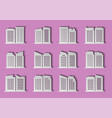 architecture city and building on pink vector image vector image
