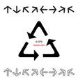 arrow icon set collection vector image vector image