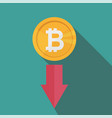 bitcoin index rating go down on exchange market vector image vector image