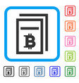 bitcoin price pages framed icon vector image vector image